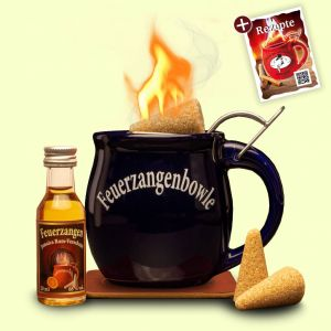Feuerzangentasse 1er-Set mit Rum Präsentbox Mitternachtsblau