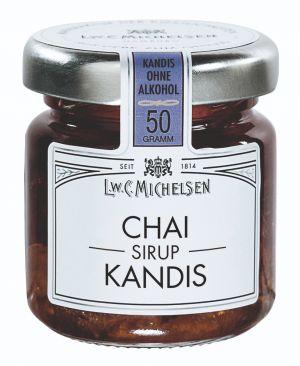Weißer Kandis eingelegt in Chai-Sirup