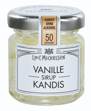 Kandiszucker in Vanille-Sirup-Zubereitung