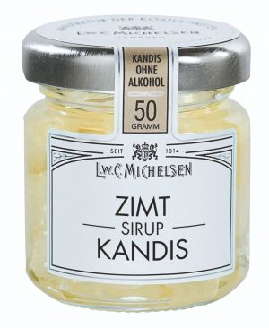Kandiszucker in Zimt-Honig-Sirupzubereitung mit Honig und Ahornsirup