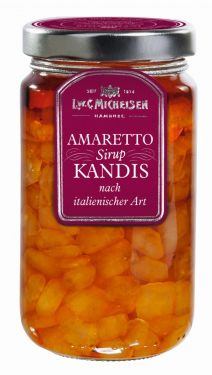 Kandiszucker in Amaretto-Sirup-Zubereitung