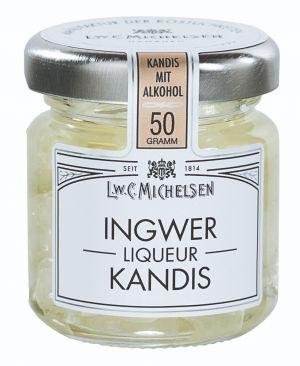 Weißer Kandis mit scharf-süßem Ingwer.