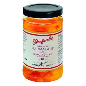 Orangen Marmelade mit fein und grob geschnittener Schale, verfeinert mit 10 Jahre altem Glenfarclas Single Highland Malt Scotch Whisky.