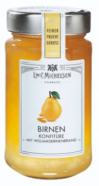 Vollreife Birnen veredelt mit einem Hauch Williams-Birnenbrand - ein Erlebnis für anspruchsvolle Genießer.