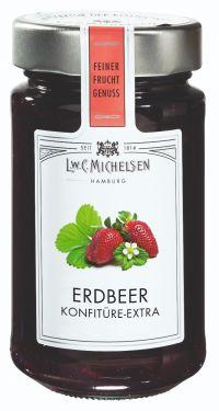 Der Klassiker mit hohem Fruchtanteil erlesener Sommer Erdbeeren, mit duftig-fruchtigem Aroma.