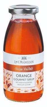 Orangen-Sirup-Zubereitung mit kandierter Orangenscheibe