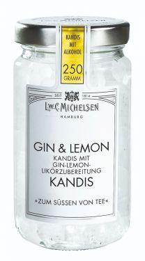 Weisser Kandis mit weichem, erfrischenden Gin & Lemon.