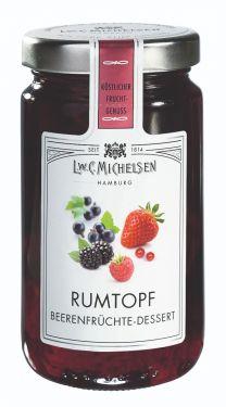Früchte in Jamaika-Rum-Zubereitung