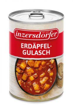 Zubereitet aus Erdäpfeln, Jausenwurst, Zwiebeln und Tomatenmark.
