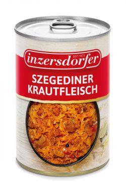 Schweinefleisch mit feinem Sauerkraut, pikant und feurig gewürzt.