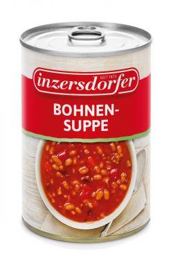 Herzhafte Suppe aus weißen Bohnen und Speck.
