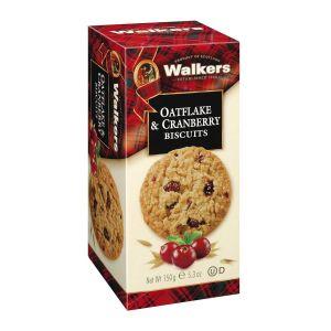 Köstlich knusprige, haferhaltige Kekse voller süßer Cranberries.
