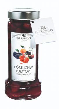 Früchte mit Jamaika-Rum-Zubereitung