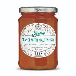 Orange & Malt Whisky Marmalade mit sehr fein geschnittener Orangenschale.