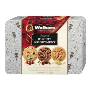 Walkers Shortbread – Biscuit Mischung in Geschenkdose mit Reliefprägung 300g