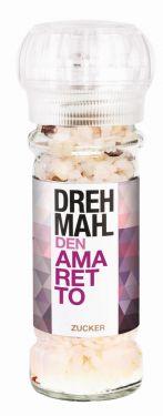 Dragierter Zucker mit genußvollem Amaretto-Mandel-Aroma.