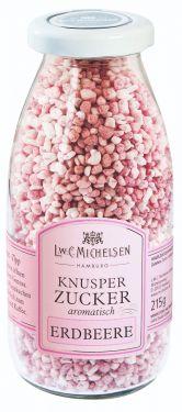 Dragierter Zucker mit gefriergetrocknetem Erdbeere-Pulver verfeinert.