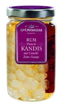 Rum-Kandis mit Punschgewürzen und Zimt-Stange