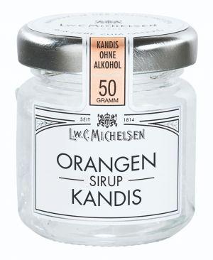 Kandiszucker in Orangen-Sirup-Zubereitung
