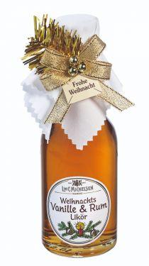 Weihnachts Vanille und Rum Likör (25% vol) 100ml - mit Jamaika-Rum