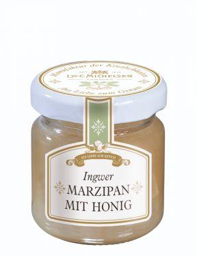 Weihnachtlicher Honig verfeinert mit echtem Lübecker Marzipan und Ingwer.
