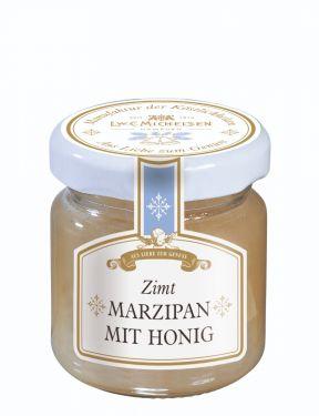 Weihnachtlicher Honig verfeinert mit echtem Lübecker Marzipan und Zimt.
