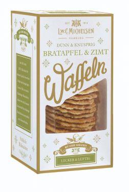 Knusprig gebackene Waffeln mit Canehl-Zimt verfeinert und einzigartigem Bratapfel-Aroma.