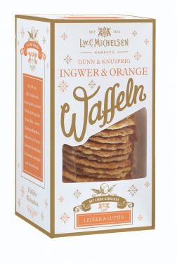 Fruchtig-würzig durch den Advent: knusprig gebackene Butterwaffeln mit feinen Ingwer- und Orangenzutaten.