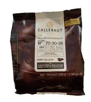 Callebaut - Feinste Belgische Dunkle Schokoladen-Kuvertüre 70,5% 400g