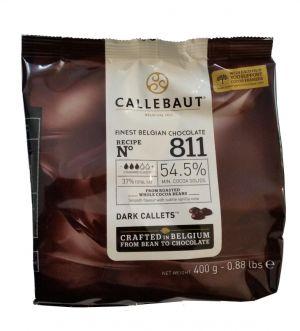 Callebaut - Feinste Belgische Dunkle Schokoladen-Kuvertüre 54,5% 400g
