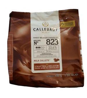 Callebaut - Feinste Belgische Vollmilchschokoladen-Kuvertüre 33,6% 400g