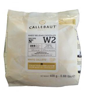 Callebaut - Feinste Weiße Belgische Schokolade 28% 400g