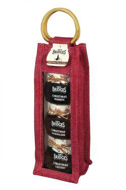 Christmas Chutney, Marmelade und Konfitüre in hübscher Jutetasche verpackt.