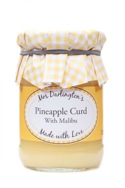 Mrs Darlingtons Pineapple Curd With Malibu - Ananas Creme mit Malibu 200g