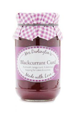 Mrs Darlingtons Blackcurrant Curd - Schwarze Johannisbeeren Creme 320g