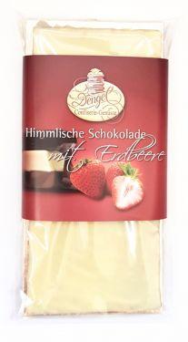 Dengel - Erdbeer Sahnetrüffel in weißer Schokolade 90g