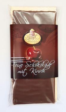 Edle Vollmilchschokolade gefüllt mit Kirsch-Sahne-Trüffel