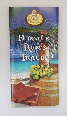 Edle Vollmilchschokolade mit Sultaninen & Karibik Rum 90g