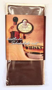 Edle Vollmilchschokolade gefüllt mit Whisky-Sahne-Trüffel