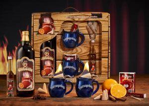 Feuerzangentasse Geschenkset - Schatzkiste Mitternachtsblau