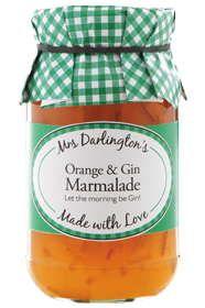 Mrs Darlingtons Orange mit Gin Marmelade 340g