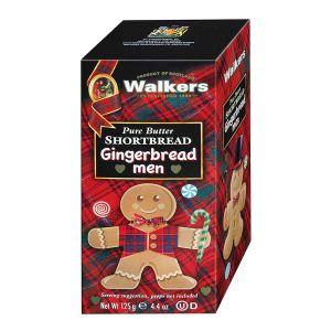 Dieser niedliche Geschenkkarton ist gefüllt mit Gingerbread Männchen.