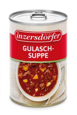 Hergestellt aus feinstem Rindfleisch, Kartoffeln und frischen Zwiebeln, pikant-scharf gewürzt mit Paprika.