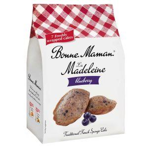 Französische Madeleines mit Blaubeergeschmack.  7 Stück einzeln verpackt.