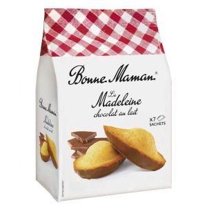 Klassisch französische Madeleines, auf einer Seite mit Vollmilchschokolade überzogen.