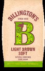 Billington's Light Brown Soft hat eine warme Honigfarbe und cremigen Toffee Geschmack. Ideal für Biskuit, Kekse und Butterscotch.