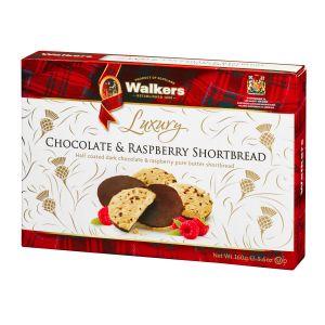Himbeer Shortbread halbseitig mit zarter, dunkler Schokolade umhüllt. In einer hübschen Geschenkverpackung.