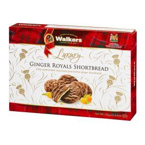 Luxuriöses Shortbread mit kandiertem Ingwer, überzogen mit dunkler Schokolade. In einer hübschen Geschenkverpackung.