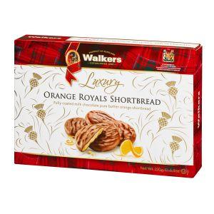 Luxuriöses Shortbread mit kandierter Orange, überzogen mit belgischer Vollmilchschokolade. In einer hübschen Geschenkverpackung.