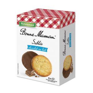 Butterkekse mit einen Überzug aus Milchschokolade